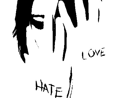 amor y odio. Te odio, por la nota que